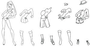 Paper Dolls Coloring Page Pages Around World Sheets Full Size