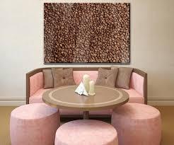 wandbild braune kaffeebohne geröstet wand bilder dekoration wohnung modern wanddeko groß für wohnzimmer wb0843