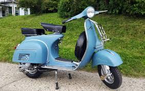 Matte Aqua Blue Vintage Vespa Super 150