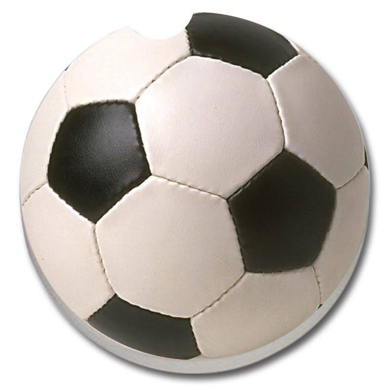 Counterart Absorbent Stoneware Car Coaster Soccer Ball