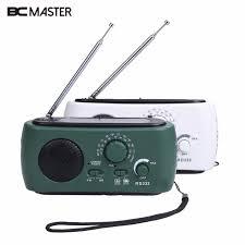 le de poche a manivelle bcmaster am fm radio manivelle dynamo générateur solaire alimenté