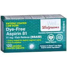Walgreens Low Dose 81 Mg Aspirin Tablets