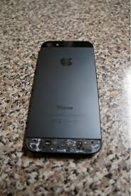 Cracked back glass iPhone 5