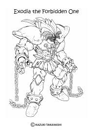 Exodia The Forbidden One Coloring Page Color Online Print
