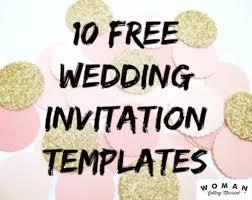 10 Free Wedding Invitation Templates