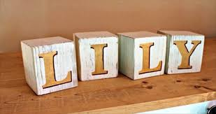 Simple Chunky Alphabet Blocks Make A Great Gift These Were Painted With Gold Letters