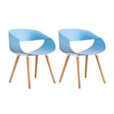 Amazon.com - Dining Chairs Modern Streamline Design Plastic ...