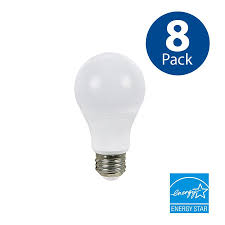 shop utilitech 8 pack 60 w equivalent dimmable soft white a19 led