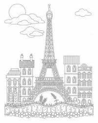 Advanced Coloring Eiffel Tower Page
