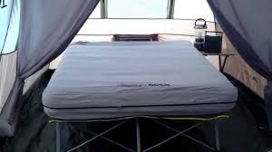coleman bed coleman max pack away air bed cot with battery
