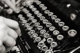 Vintage Black And White Photography Typewriter