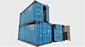 100 Shipping Container Model With Interior 03 3D