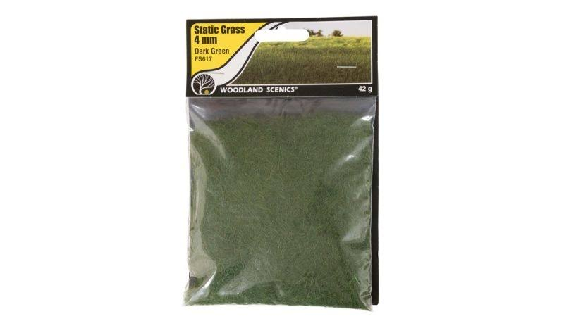 Woodland Scenics Fs617 Static Grass Dark Green 4mm