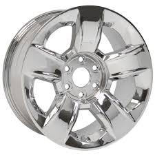 100 Oem Chevy Truck Wheels 20 Wheel Fits Silverado CV79 20x9 Chrome OEM Hollander 5651