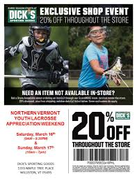 Dicks Sporting Goods 20% Store Wide Discount March 16th And ... How To Use A Dicks Sporting Goods Promo Code Print Dicks Coupons Coupon Codes Blog 31 Hacks Thatll Shock You The Krazy Coupons Express And Printable In Store 20 Off Weekly Ads 20 Much Save With Shopping Deals Promotions Goleta Valley South Little League Official Retail Sponsor Of The World Series