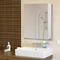 homcom bademöbel spiegelschrank badeschrank hängeschrank badezimmer spiegel schrank 75 x 60 x 15 cm