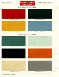 100 International Truck Parts Nason Paint Color Chart New 1953 Charts Old E280a2