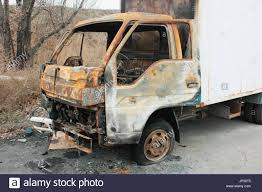 100 Burnt Truck Small Burnt Truck Abandoned Along The Road Stock Photo 151271909
