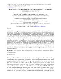 Pumpkin Seeds Glycemic Index by Development And Performance Evaluation Of Fluted Pumpkin Seed