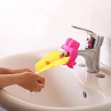 2 stücke ein satz bad accessoires waschbecken kunststoff wasserhahn rutsche extender kinder kinder waschen der hände werkzeuge banheiro