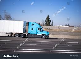 100 Aerodynamic Semi Truck Bright Blue Modern Road Train Stock Photo Edit Now
