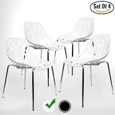 100 Birch Dining Chairs Amazoncom UrbanMod Modern Set Of 4 White