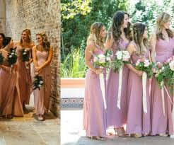 Country Style Bridesmaid Dresses Rustic