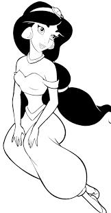Printable Pretentious Inspiration Jasmine Coloring Page Disney Princess Aladdin Pinterest