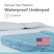 Goodnites Bed Mats by Printed Washable Underpad Star Pattern