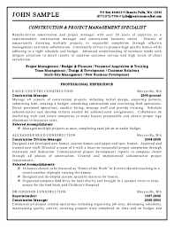 Project Management Resumes Inspirational Construction Manager Resume Examples Of
