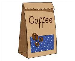 Items Similar To Blue Coffee Bag Beans Single Digital Clip Art