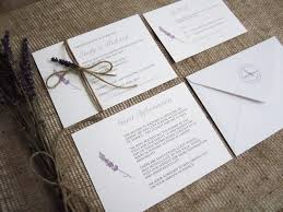 Lavender Wedding Invitation Suite SJ Invitations London