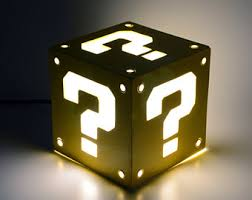 Mario Bros Question Block Lamp by Light Box Of Question Block From Super Mario Bros Decoration