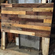 How to build your own pallet wood headboard in a few simple steps Create a