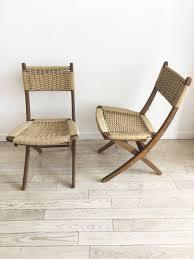 Pair Of Mid Century Folding Rope Chairs- 2 Chairs Vintage Mid Century Modern Folding Rope Chairs In The Style Of Hans Wegner 1960s Danish Bench Vonvintagenl Catalogus Roped Folding Chairs Yugoslavia Edition Chair Restoration And Wood Delano Natural Teak Outdoor Midcentury Pair Cord And Ebert Wels The Conran Shop