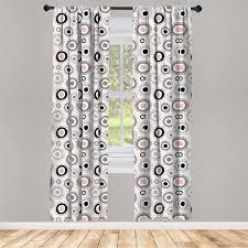 gardine fensterbehandlungen 2 panel set für wohnzimmer schlafzimmer dekor abakuhaus geometrisch circlular doodles kaufen otto
