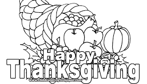 Happy Thanksgiving Coloring Pages 2017