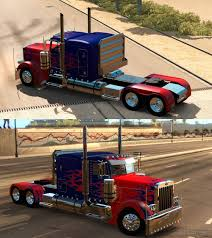 Peterbilt 389 Optimus Prime Skin For Viper's Truck Mod | American ...