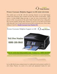 Hp Printer Help Desk Uk by Printer Customer Helpline Support In Uk 0808 168 9042 By Free Help