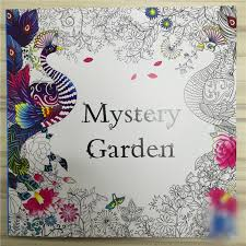 Mystery Garden Coloring Book For Adults Kids Mandala The Secret Books Antistress Art Quiet Color Drawing 2525cm 48Pages In From Office