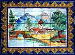 mexican talavera mural paisaje terra artesana