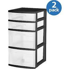 Sterilite 4 Drawer Cabinet Walmart by Amazon Com Sterilite 4 Drawer Medium Cart Set Of 2 Model