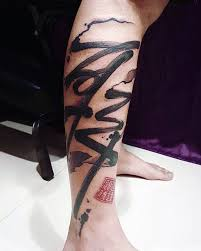 Nice Rib Side Chinese Tattoos