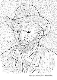 Vincent Van Gogh Self Portrait Coloring Page