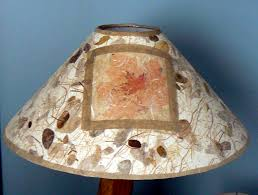Coolie Lamp Shade Amazon by Embedded Maple Leaves Coolie Lamp Shade Lamps Lighting