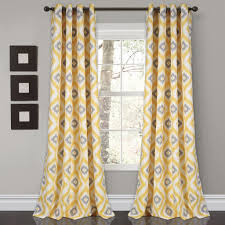 diamond ikat room darkening window curtain set lush decor www