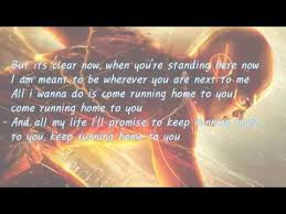 Running home to you by Grant Gustin with lyrics