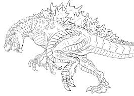 Godzilla Coloring Page Recreational Break 10 Pages And Pictures Print Picture