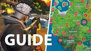 fortnite guide alle orientierungspunkte auf der neuen