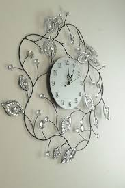 Decorative Wall Clocks Plus Large Grey Clock Big For Living Room